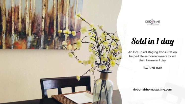sold in one day picture debonair home staging